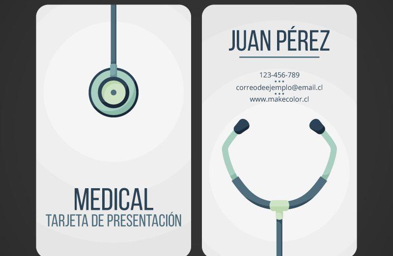 100 Tarjetas Vertical – Médico